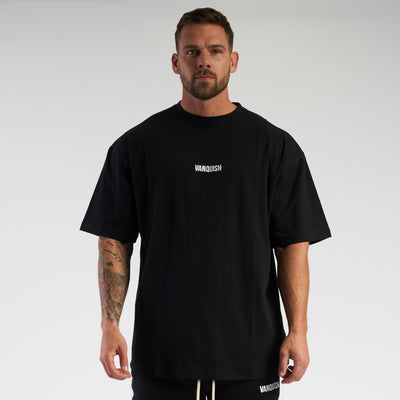 Vanquish Contrast Black Oversized Short Sleeve T Shirt