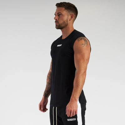 Vanquish Contrast Black Sleeveless T Shirt