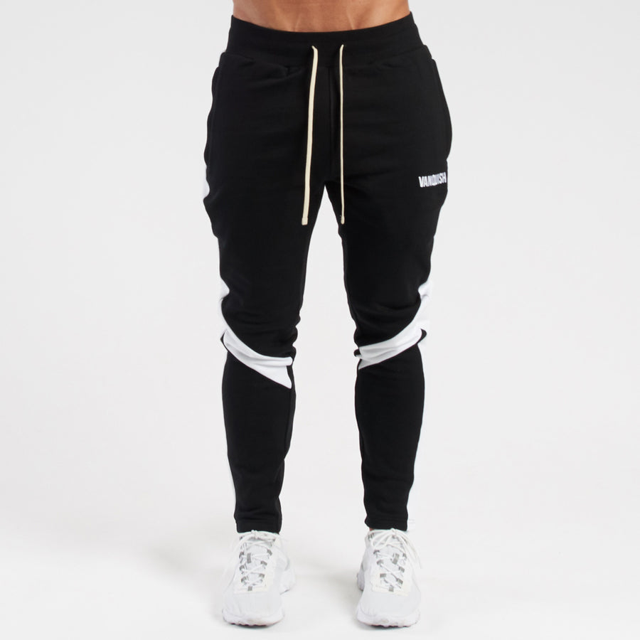 Vanquish Contrast Black Tapered Sweatpants