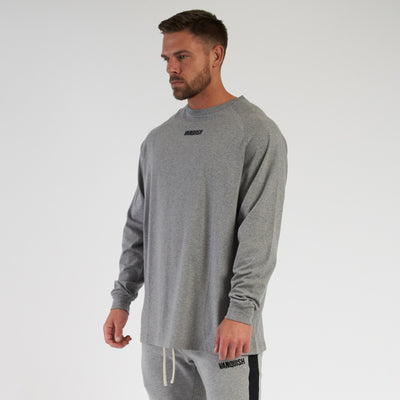 Vanquish Contrast Grey Oversized Long Sleeve T Shirt