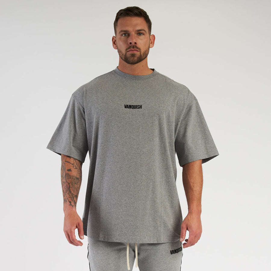 Vanquish Contrast Grey Oversized Short Sleeve T Shirt