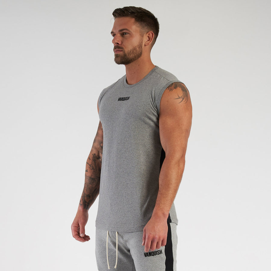 Vanquish Contrast Grey Sleeveless T Shirt
