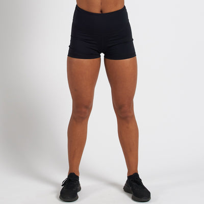 Vanquish Radiate Women's Black Scrunch Shorts