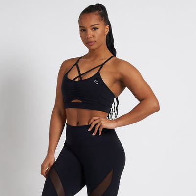 Vanquish Radiate Women's Black Scrunch Sports Bra