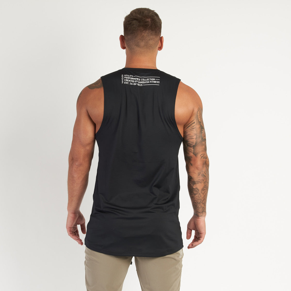 Vanquish Utility Men's Black Sleeveless T Shirt