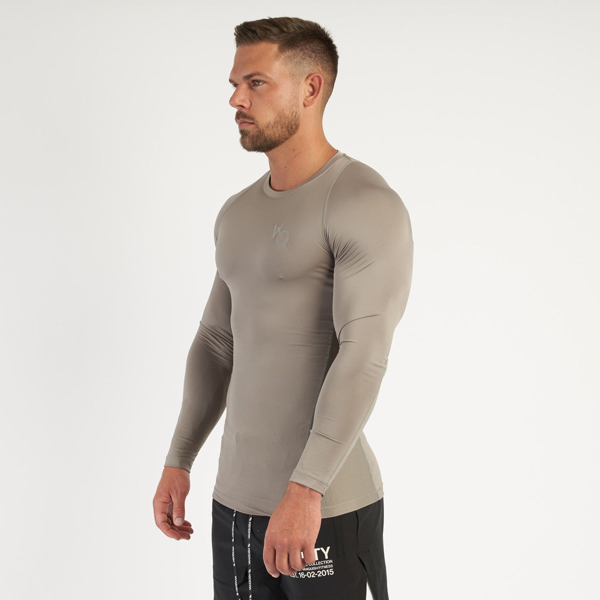 Vanquish Utility Men's Khaki Long Sleeved Compression T Shirt