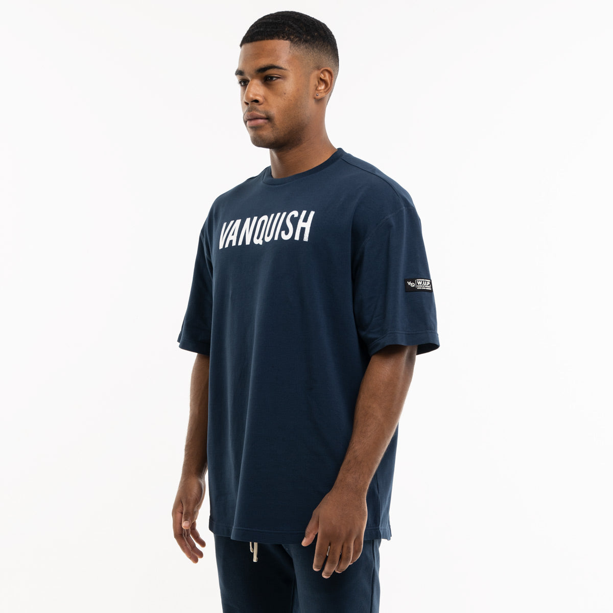 Vanquish Warm Up Project Navy Oversized Short Sleeve T Shirt