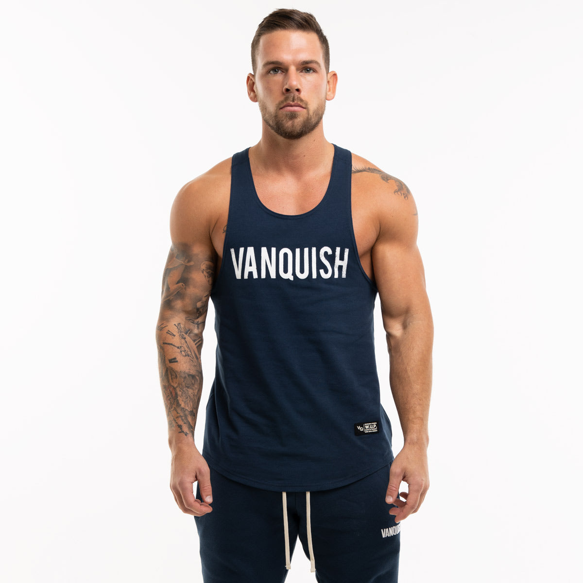 Vanquish Warm Up Project Navy Tank Top