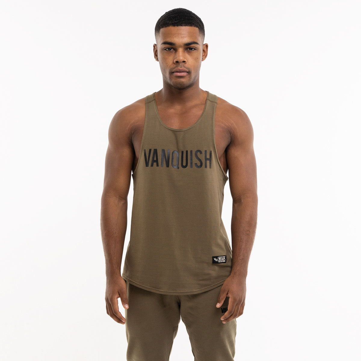 Vanquish Warm Up Project Olive Tank Top