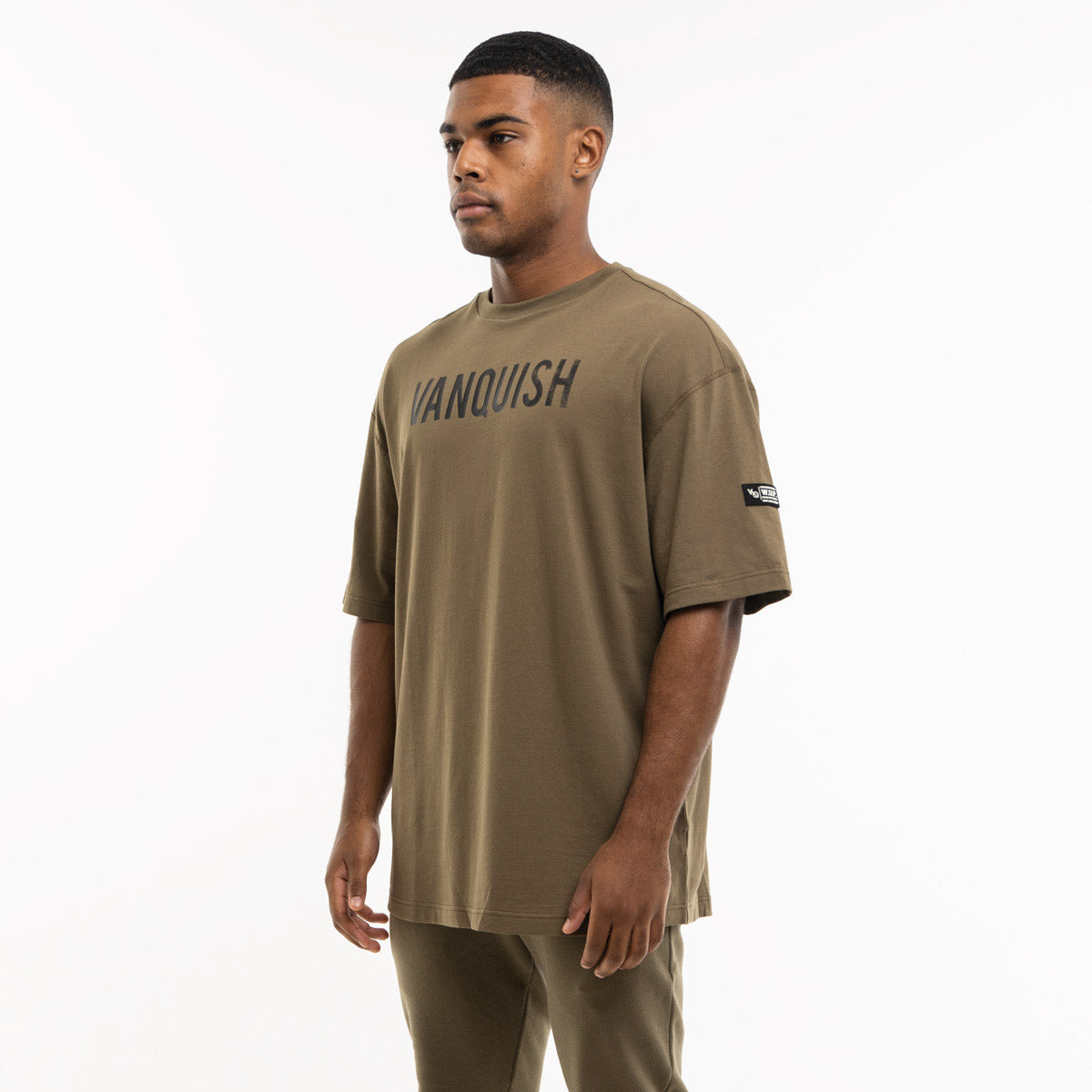 Vanquish Warm Up Project Olive Oversized Short Sleeve T Shirt
