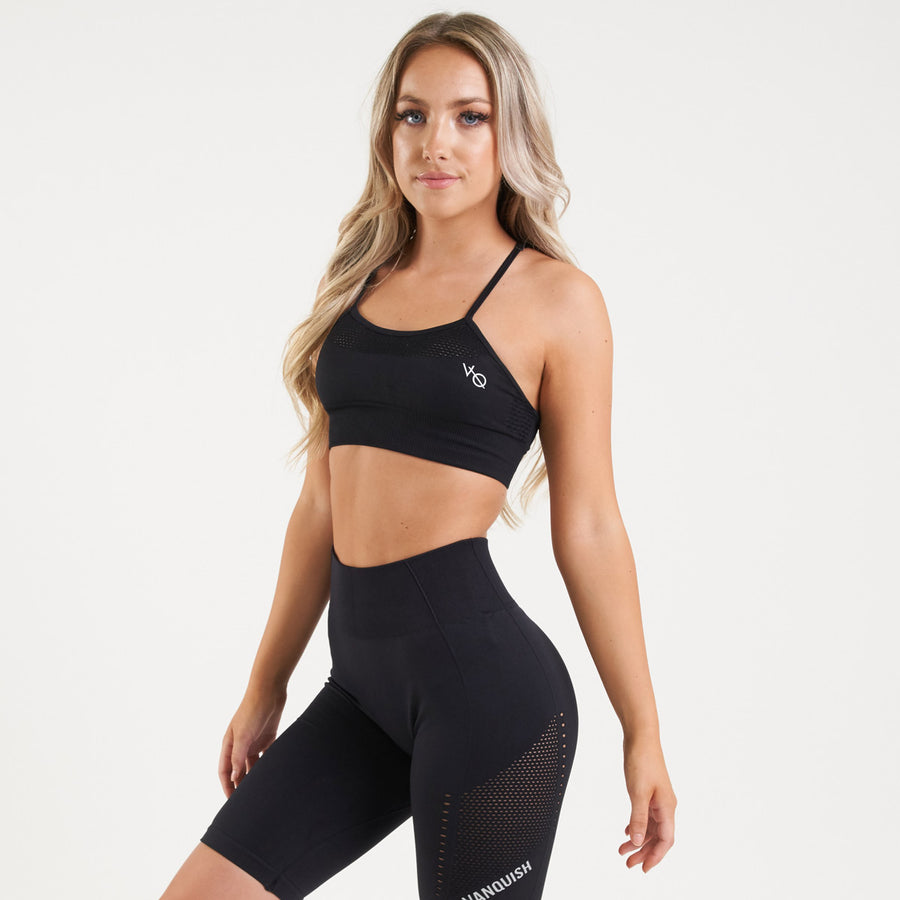 Vanquish Zeal Women's Black Seamless Sports Bra