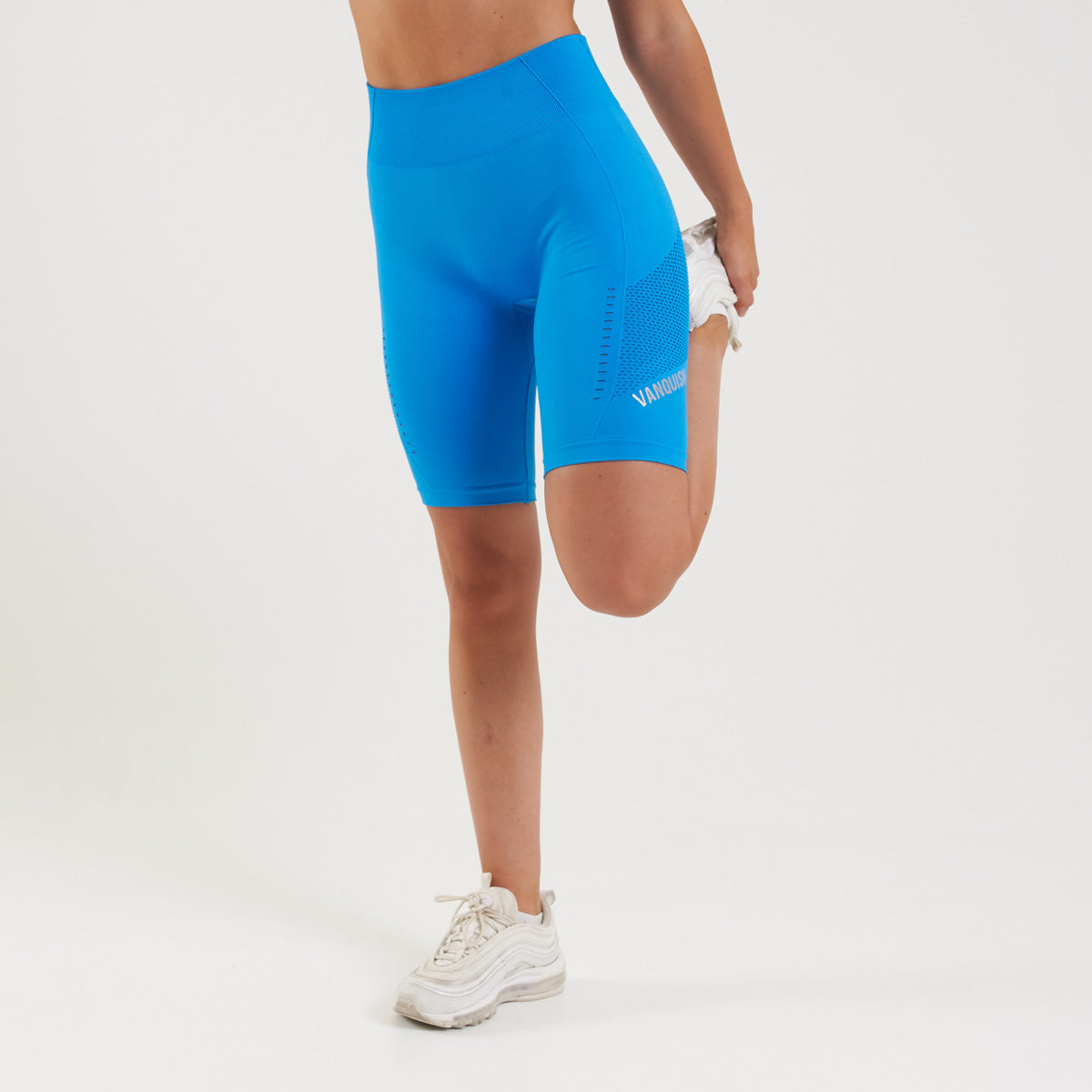 Vanquish Zeal Women's Blue Seamless Cycling Shorts