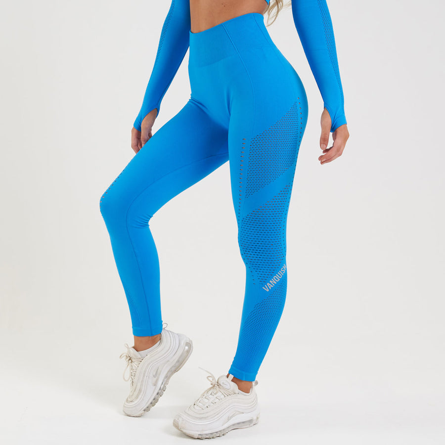 Vanquish Zeal Women's Blue Seamless Leggings