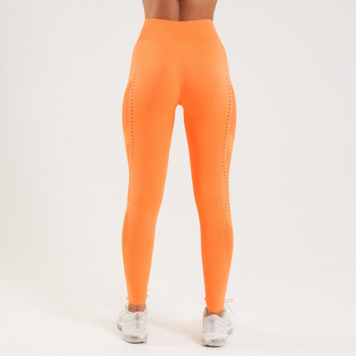 Vanquish Zeal Women's Orange Seamless Leggings