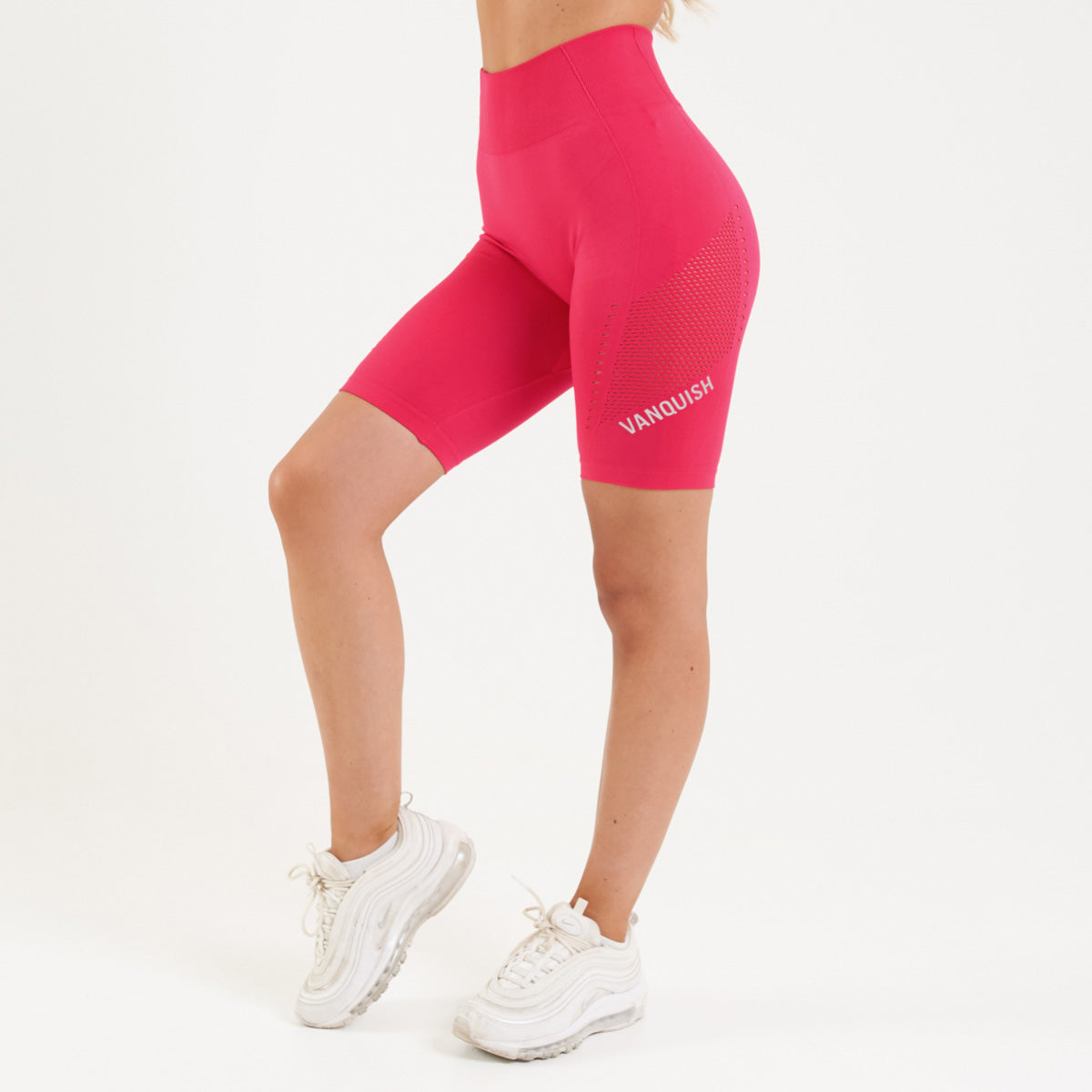 Vanquish Zeal Women's Pink Seamless Cycling Shorts