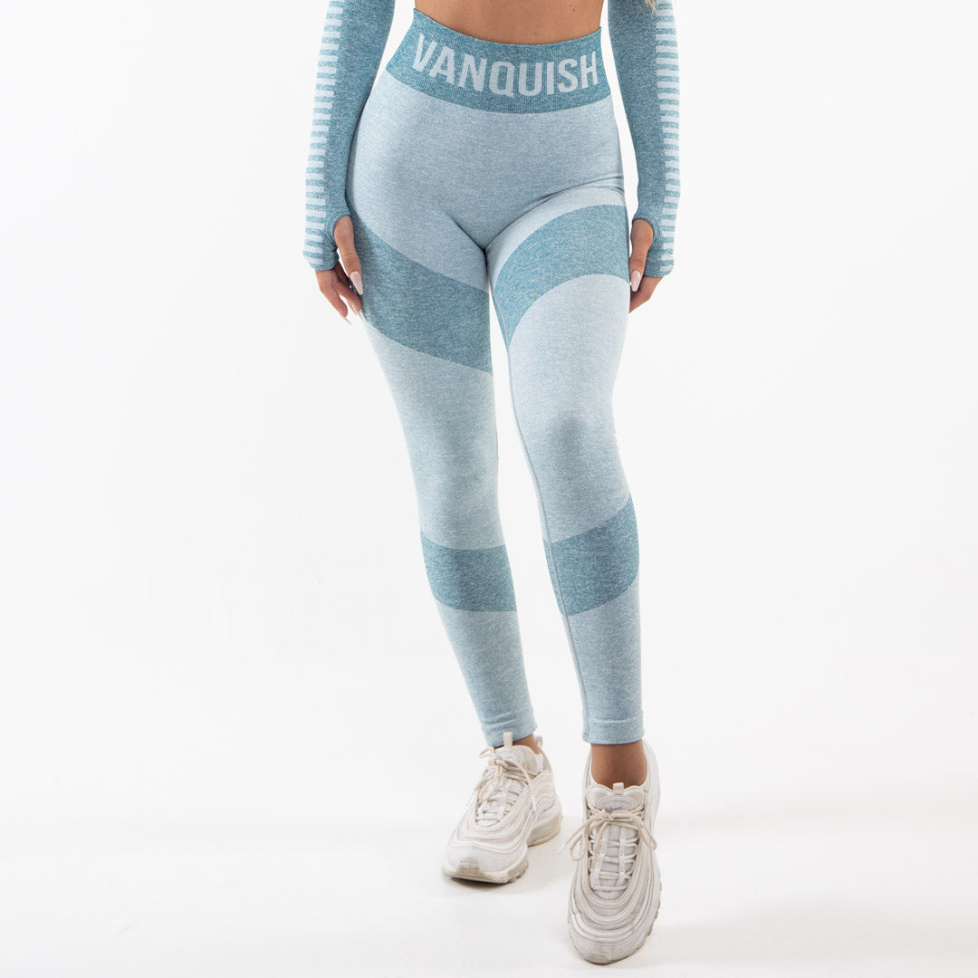 Vanquish Allure Women's Blue Seamless Leggings