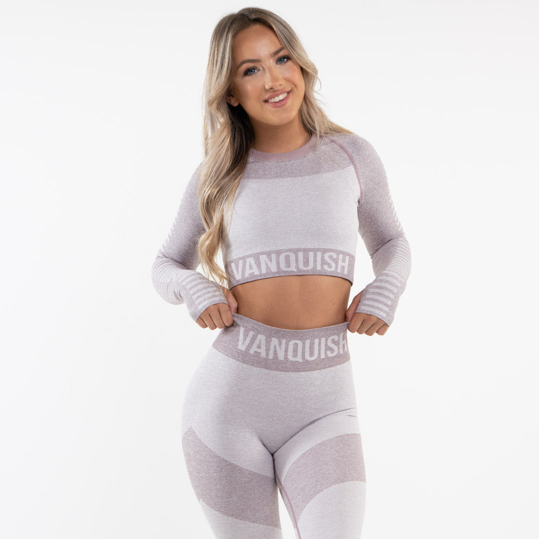 Vanquish Allure Women's Orchid Seamless Long Sleeve Crop Top