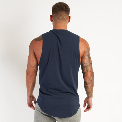 Vanquish Core Men's Navy Sleeveless T Shirt