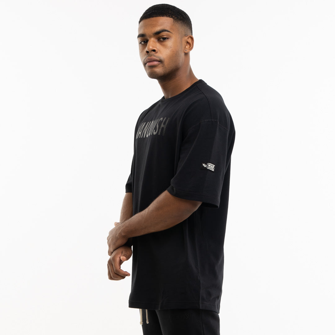 Vanquish Warm Up Project Blackout Oversized Short Sleeve T Shirt