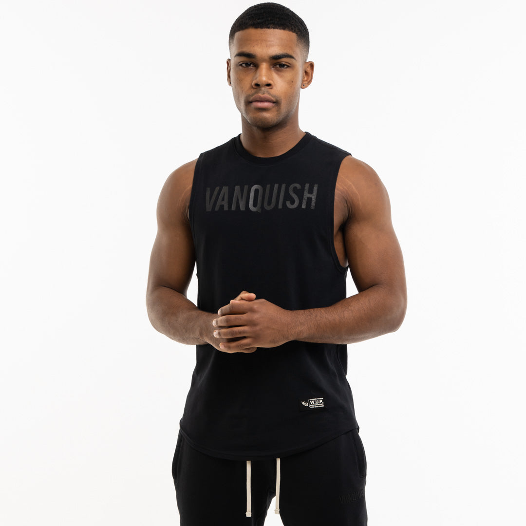 Vanquish Warm Up Project Blackout Sleeveless T Shirt