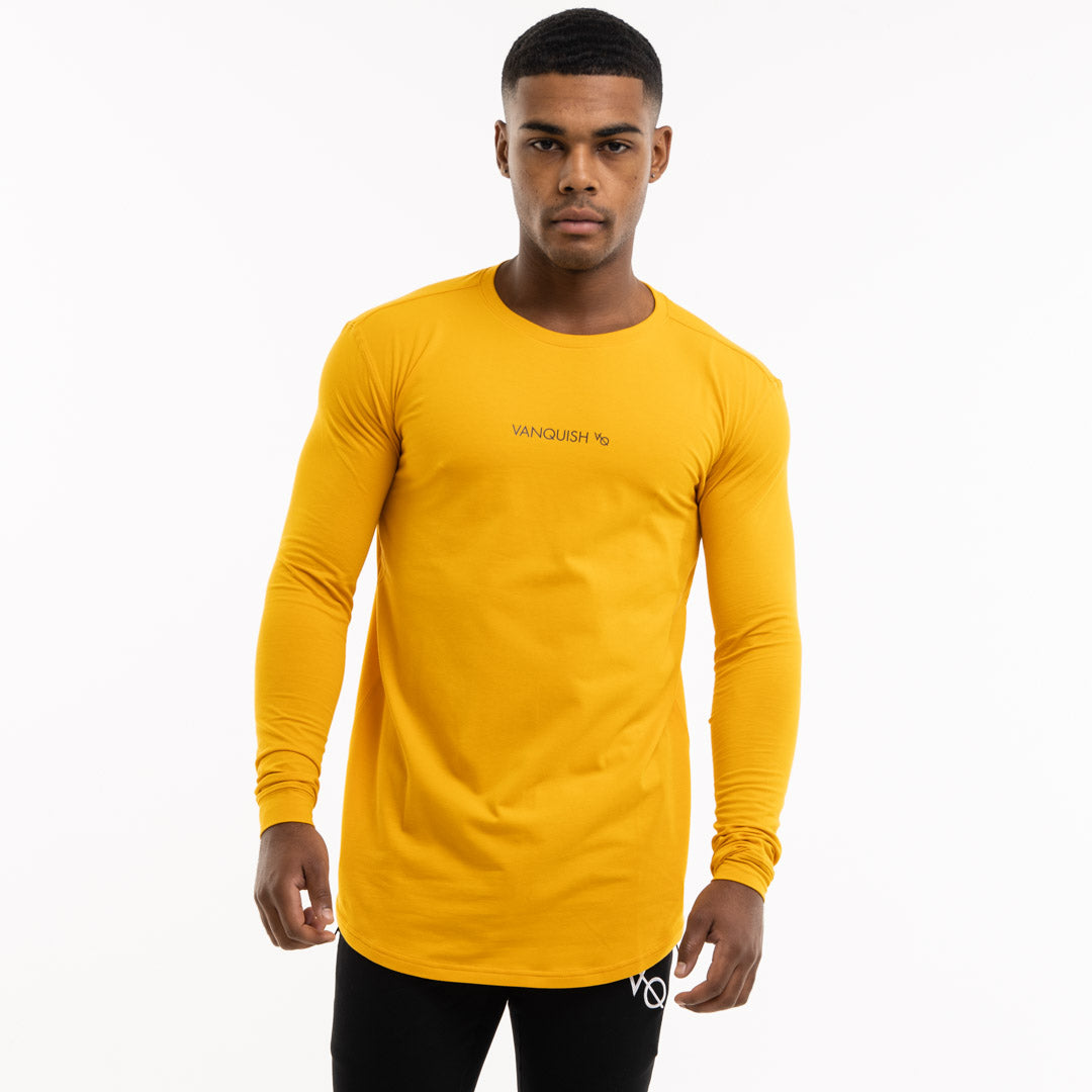 Vanquish Core Men's Yellow Long Sleeved T Shirt