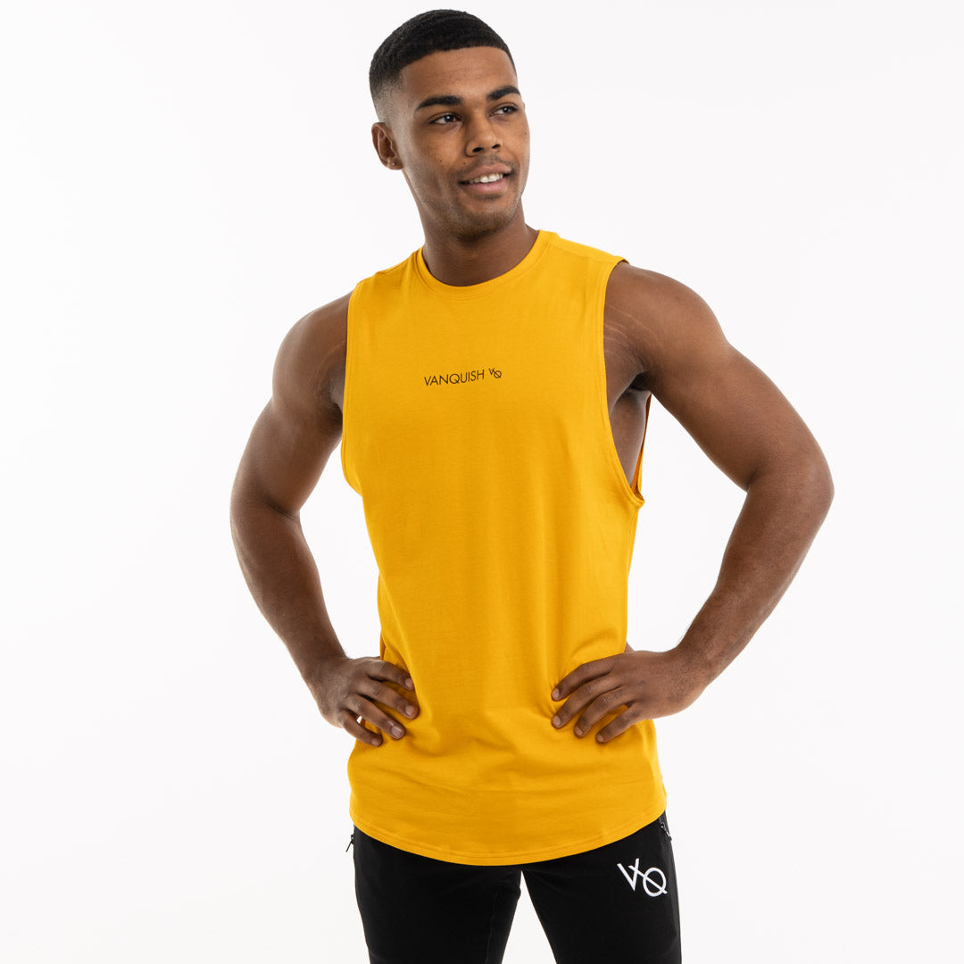 Vanquish Core Men's Yellow Sleeveless T Shirt