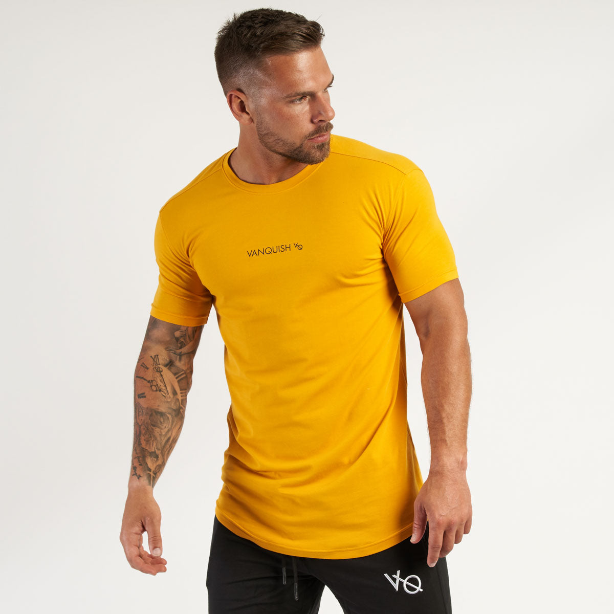 Vanquish Core Men's Yellow Short Sleeved T Shirt