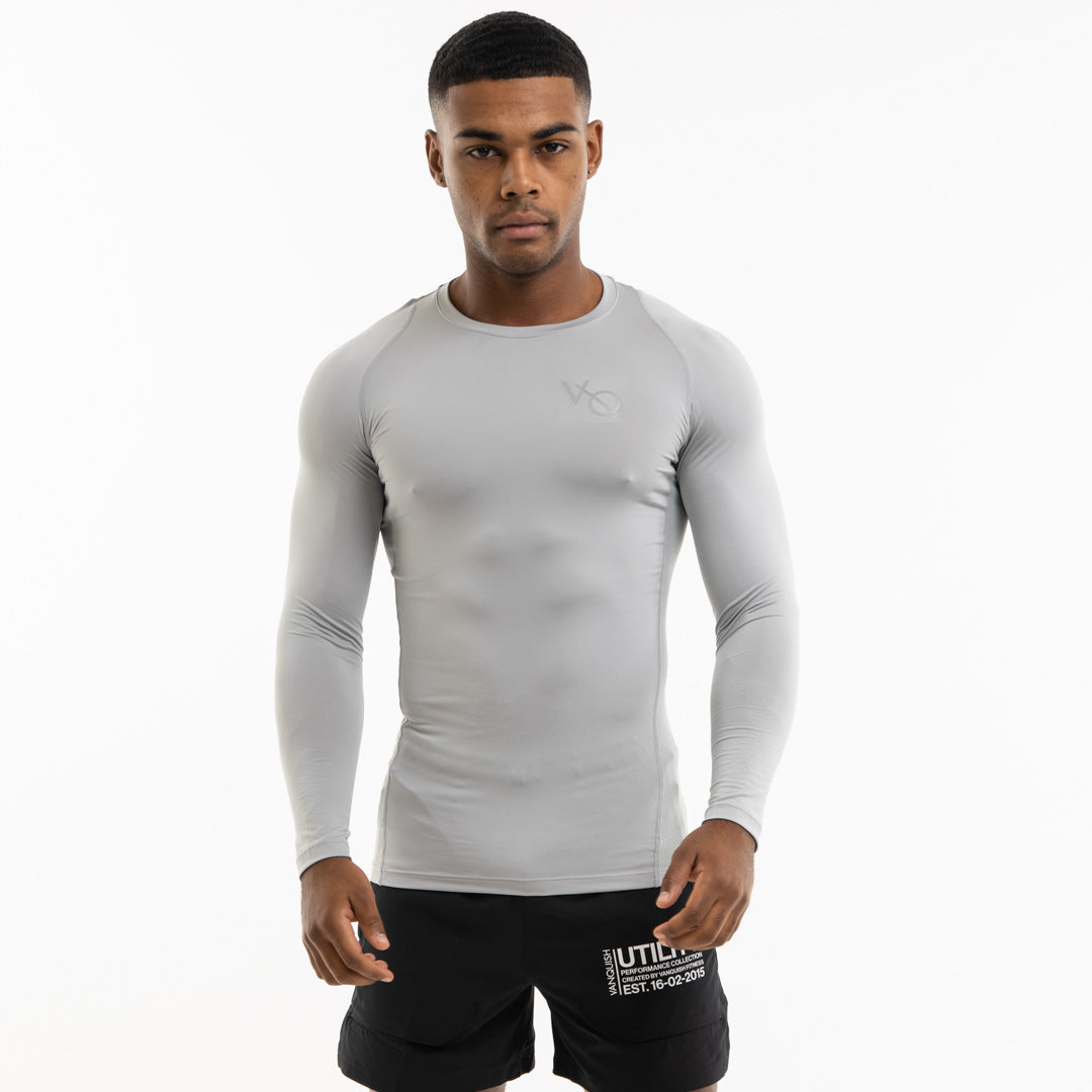 Vanquish Utility Men's Grey Long Sleeved Compression T Shirt