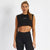 Vanquish Women's Minimal Black Crop Top