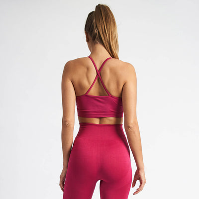 Vanquish Women's Virtue Cerise Seamless Sports Bra