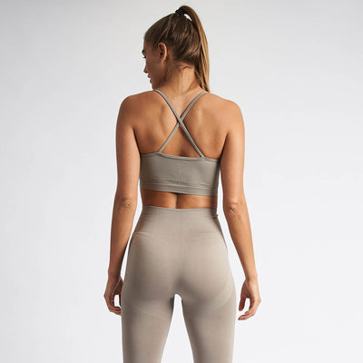 Vanquish Women's Virtue Khaki Seamless Sports Bra