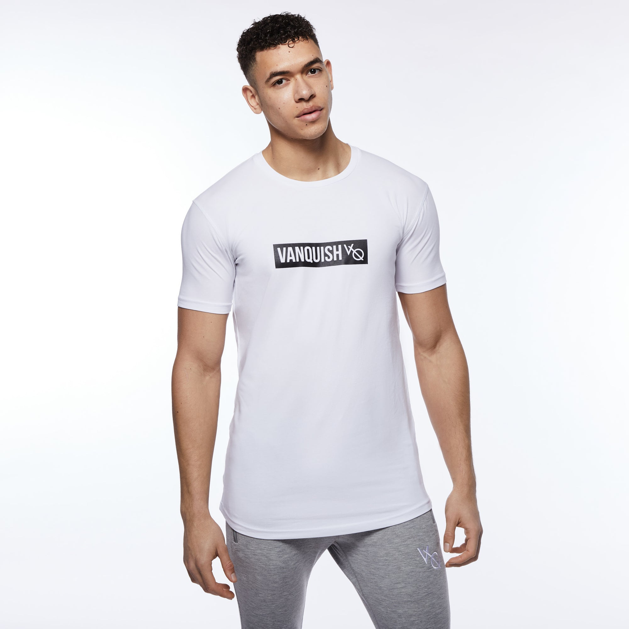 Vanquish Box Logo White Short Sleeve T Shirt
