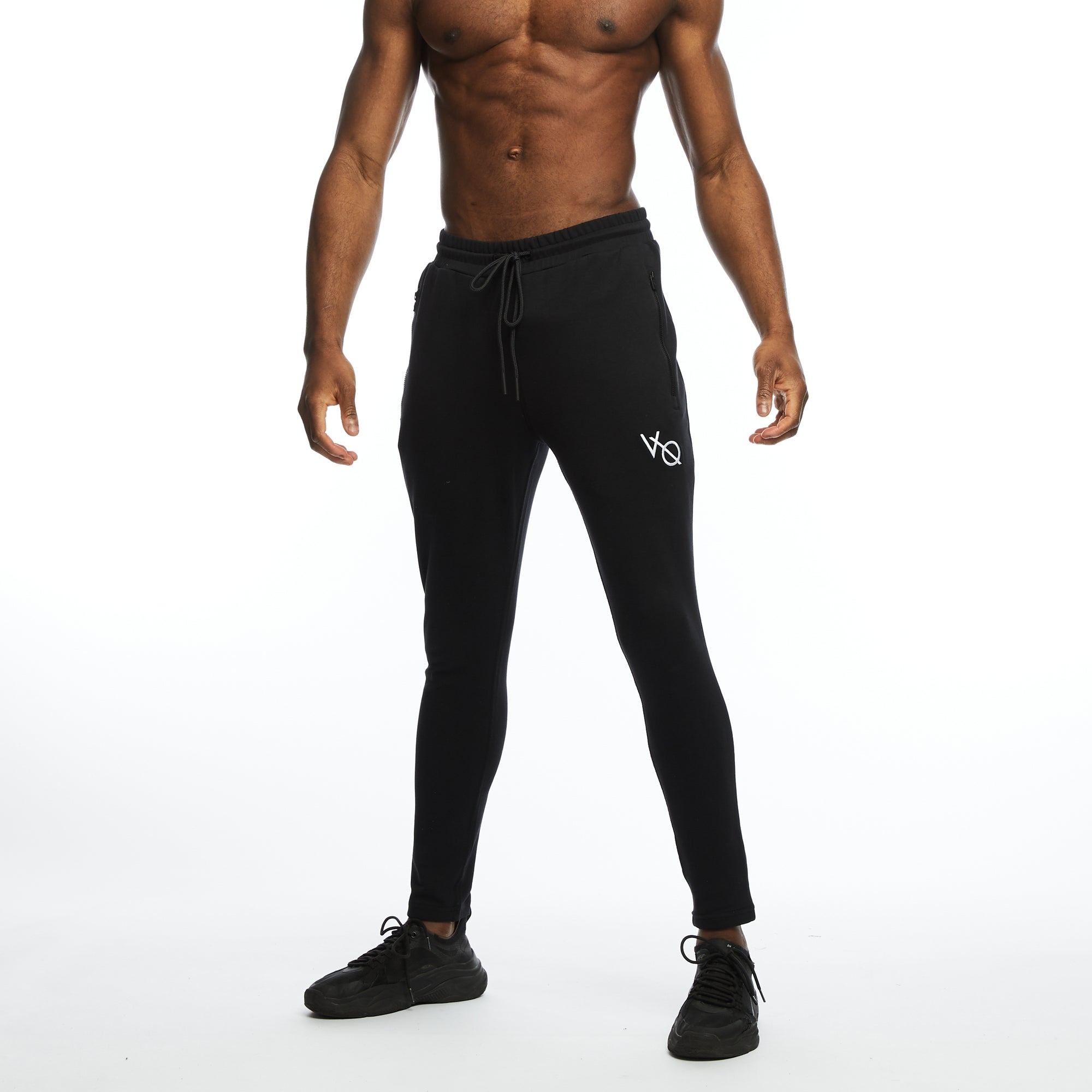 VQFIT Essential Black Tapered Sweatpants