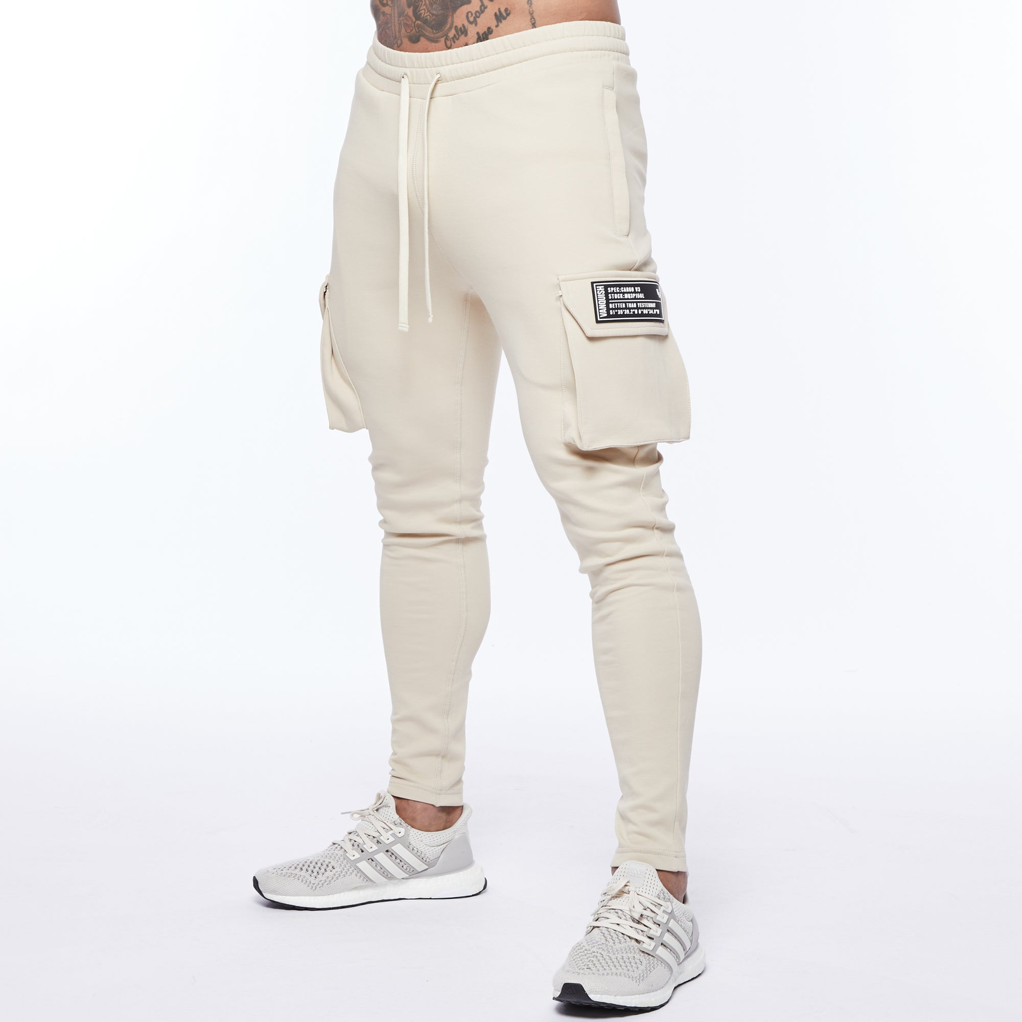 Vanquish Essential Stone Tapered Cargo Sweatpants