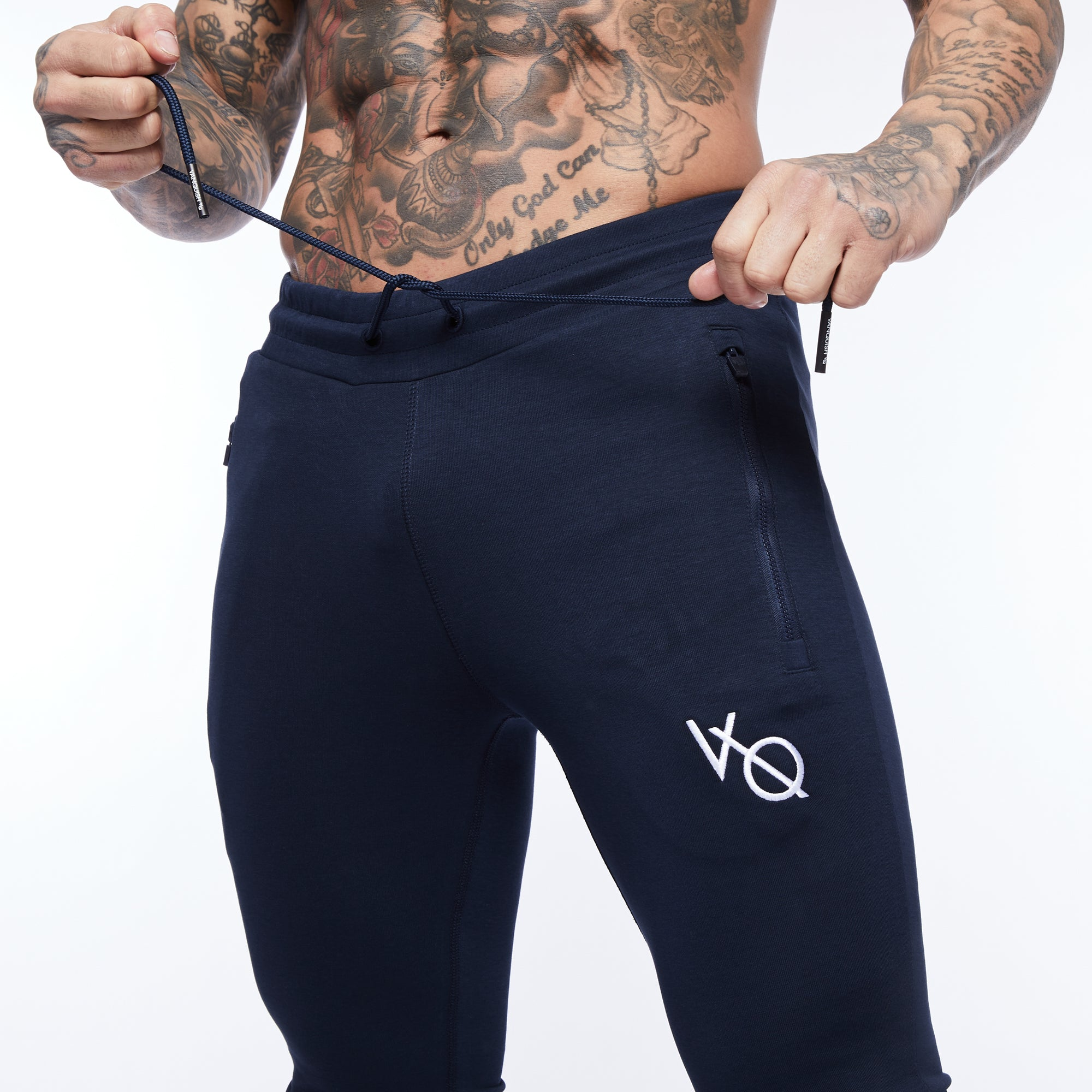 Vanquish Essential Navy Tapered Sweatpants