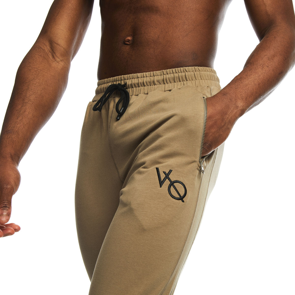 VQFIT Khaki Eclipse Tapered Sweatpants