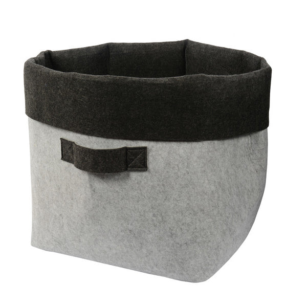 Felt Tub with Handles Light Grey/Charcoal - My House Needs