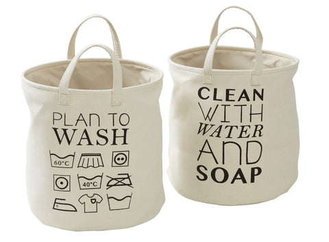 Set of 2 Clean Wash Laundry Baskets/Hampers - My House Needs....