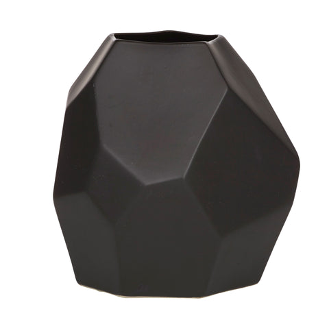 Black Geometric Jax Vase - My House Needs