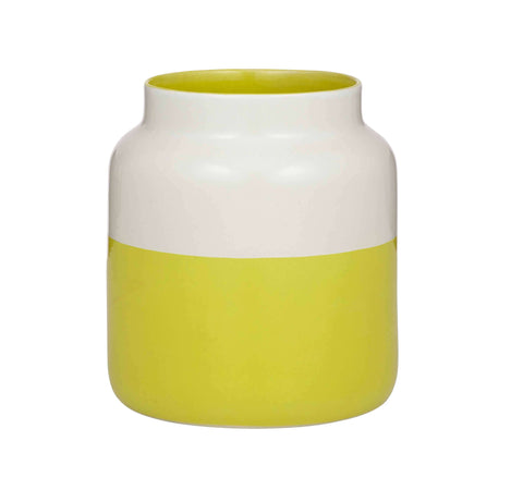 Tallow Vase White/Yellow - My House Needs