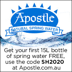 Get a free 15L Bottle of Spring water with your first order at Apostle.com.au with the code SH2020!