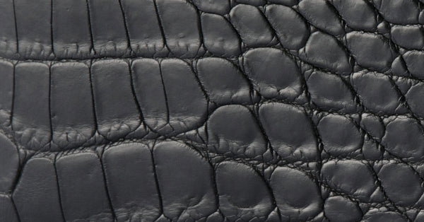 Exotic crocodile leather tanning and finishes in luxury leather goods