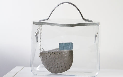 LIN8 Australia's bespoke luxury leather goods made in Australia. We make pvc plastic, see-through, clear bags to protect your other leather bags.