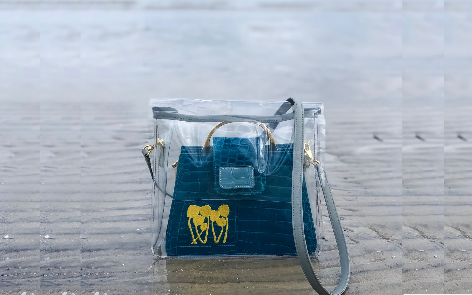 LIN8 Australia's slow fashion accessories. Protect your handbag with this clear pvc bag in a bag. made in Australia