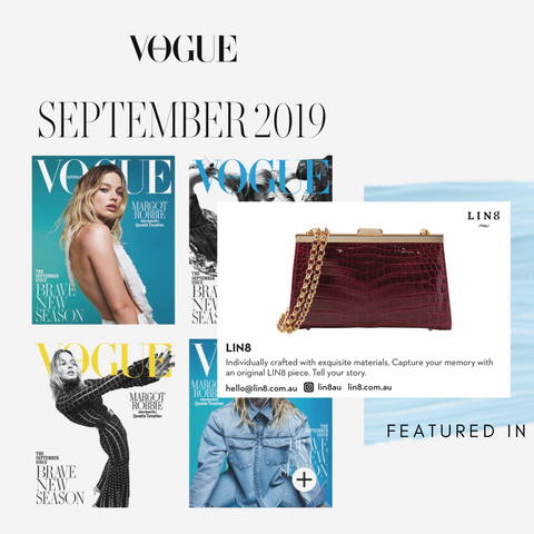 LIN8 /lɪŋŋ/ The September Issue 2019 Vogue Australia. Australia's luxury leather goods.