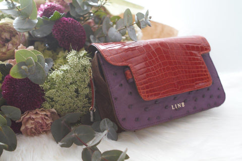 LIN8 Australia's bespoke luxury leather goods made with genuine exotic ostrich, crocodile leather. Women and men's bag, handbag, purse, clutch made in Australia