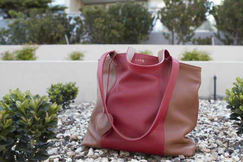LIN8 Australia's bespoke luxury leather goods. Buy genuine French taurillon leather tote shopping shopper bag for her birthday/ Christmas