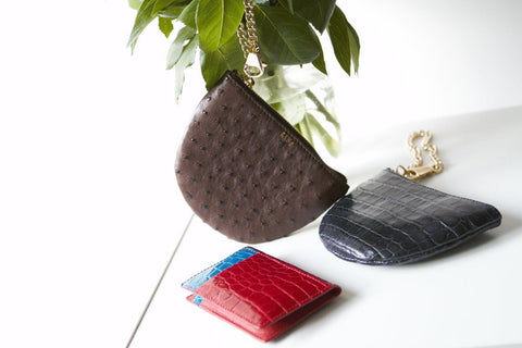 LIN8 Australia's bespoke luxury leather goods made of genuine exotic French, European crocodile, ostrich leather.Buy, shop handbag, bag, purse, card case holder wallet, clutch for her, for him