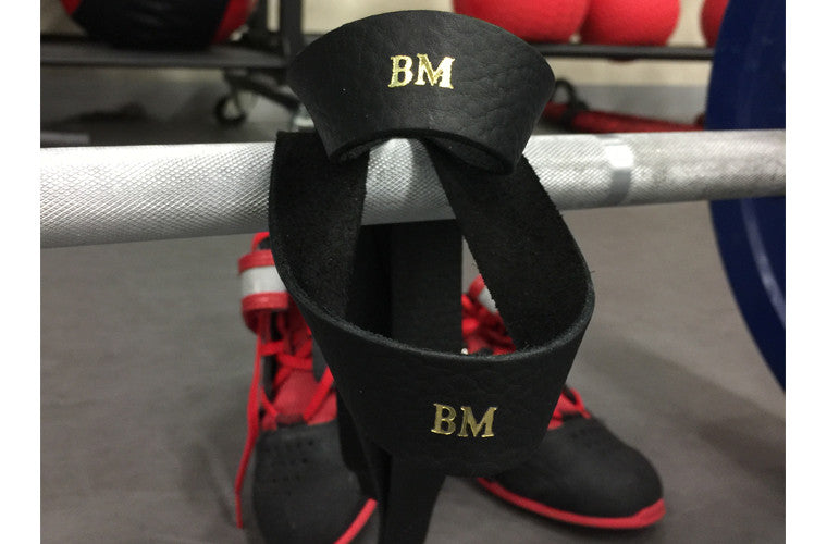 LIN8 Australia's first.Monogram initials on genuine leather gym lifting pulling straps.Best,popular gift,present under $30 for him/her.Bodybuilding,powerlifting,weightlifting,crossfit