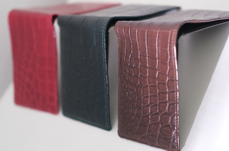 LIN8 luxurious compact men's billfold leather wallet in crocodile leather
